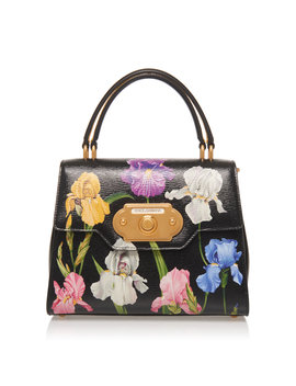 Welcome Floral Print Leather Shoulder Bag by Dolce & Gabbana