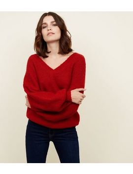 Blue Vanilla Red Balloon Sleeve Jumper by New Look