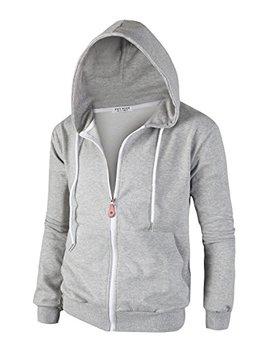 Tov Nine Mens Cotton Lightweight Slim Fit Pocket Zip Up Hoodie Jacket by Tov Nine
