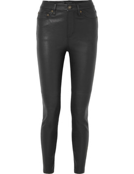 Skinny Leather Pants by Equipment