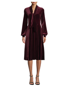Ruby Velvet Long Sleeve Dress by Black Halo