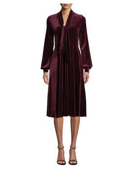 Ruby Velvet Long Sleeve Dress by Black Halo