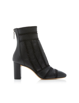 Beatrice Crocheted Leather Boot by Alexandre Birman