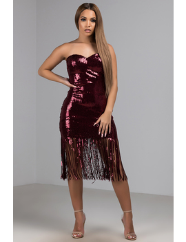 This Is What Makes Us Girls Strapless Sequin Mini Dress by Akira