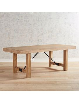 """Natural Stonewash 78"""" Dining Table by Eastwood Collection"""