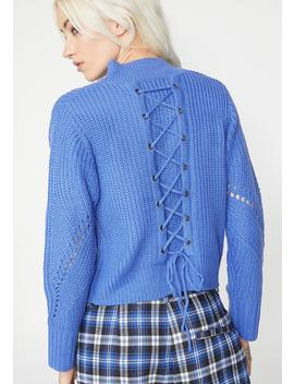 Nap Time Lace Up Sweater by Blue Blush