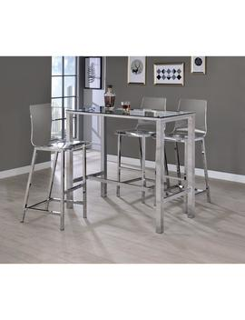 Everyday 30 In. Clear And Chrome Acrylic Bar Stool (Set Of 2) by Coaster