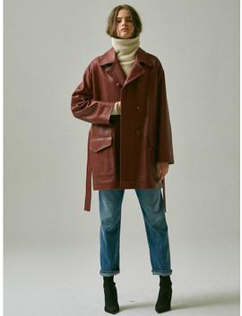 Lambskin Leather Coat by Mardi Mercredi
