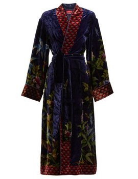 Nomos Jungle Print Velvet Robe by F.R.S – For Restless Sleepers