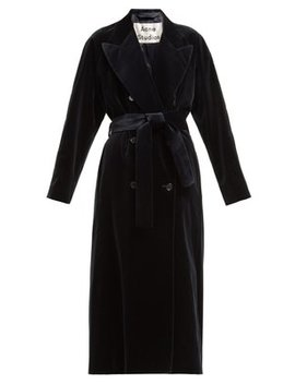 Double Breasted Velvet Robe Coat by Acne Studios