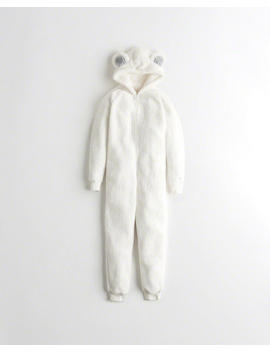 Sherpa Bear Jumpsuit by Hollister