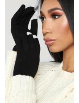 Technically Correct Gloves   Black by Fashion Nova