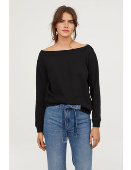 Boat Neck Sweatshirt by H&M