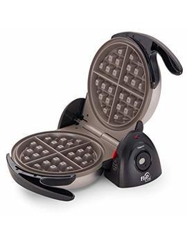 National Presto 3510 Flip Side Belgian Waffle Maker, Black by Amazon