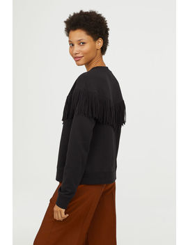 Sweatshirt With Fringe by H&M