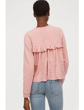 Flounced Sweatshirt by H&M