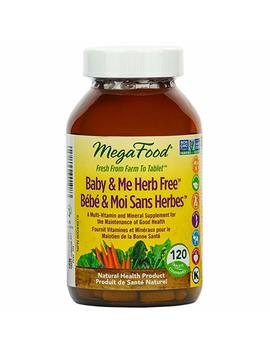 Mega Food   Baby & Me Herb Free, A Multi Vitamin And Mineral Supplement For The Maintenance Of Good Health, 120 Count by Amazon
