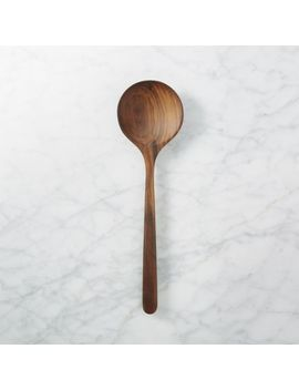 Wide Walnut Spoon by Crate&Barrel