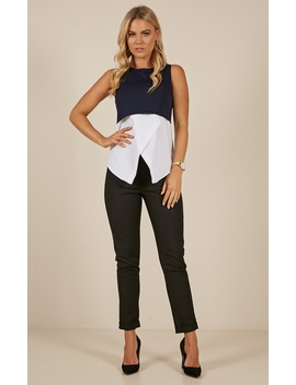 Your Wisdom Top In Navy And White by Showpo Fashion