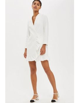 Frill Hem Blazer Dress by Topshop