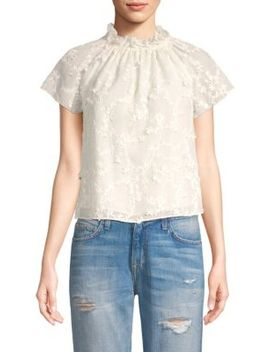 Ellie Embroidered Blouse by Rebecca Taylor