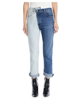 Amazing Two Tone High Rise Boyfriend Jeans by Ao.La By Alice+Olivia