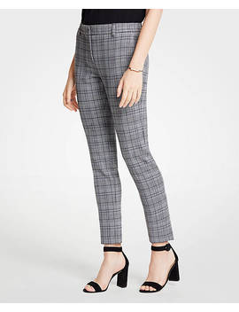 The Petite Ankle Pant In Dash Plaid by Ann Taylor