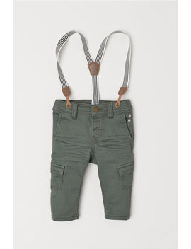 Pants With Suspenders by H&M