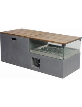 Bond 20 In W 50,000 Btu Gray Composite Liquid Propane Fire Table by Lowe's
