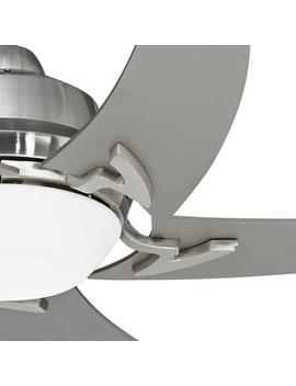 "52"" Casa Vieja Capri Brushed Nickel Ceiling Fan With Light by Lamps Plus"