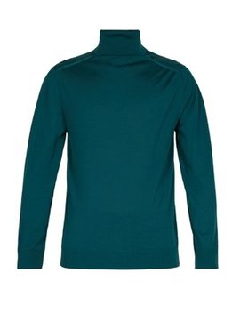 Roll Neck Wool Sweater by Prada