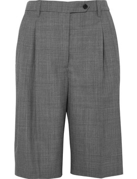 Prince Of Wales Checked Wool Shorts by Prada
