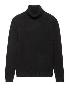 Italian Merino Wool Blend Turtleneck Sweater by Banana Repbulic