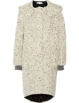 Hooded Mohair And Wool Blend Bouclé Coat by Stella Mc Cartney