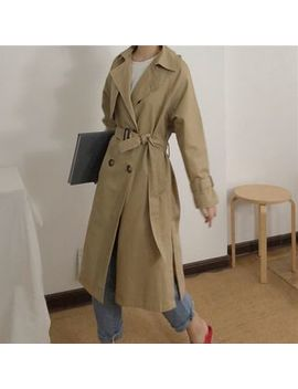 Anlay   Plain Loose Fit Trench Coat by Anlay