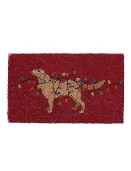 Dog With Lights Doormat by Pottery Barn