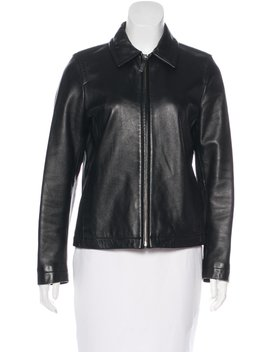 Collared Leather Jacket by Coach