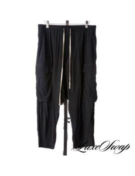 Lnwot Rick Owens Walrus Ss17 29% Silk Black Drop Crotch Pod Cargo Pants 50 Nr by Rick Owens