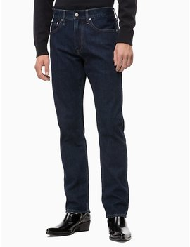Straight Fantastic Black Jeans by Calvin Klein