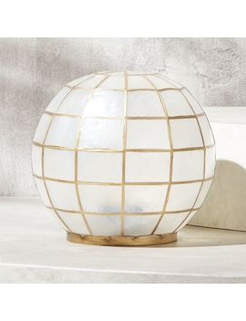 Capiz Large Lantern by Crate&Barrel