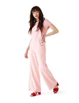 Pink Wide Leg Dungarees by Ban.Do
