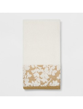Border Floral Yellow Bath Towel   Threshold™ by Threshold™