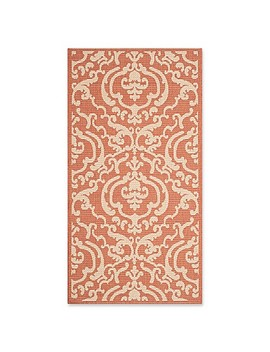 Safavieh Courtyard 2 Foot 7 Inch X 5 Foot Sophie Indoor/Outdoor Rug In Terracotta/Natural by Bed Bath And Beyond
