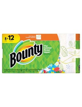 Bounty Floral Printed Full Sheet Paper Towels   8 Giant Rolls by Bounty