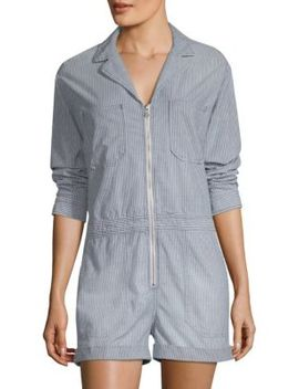Striped Zip Front Romper by Ag