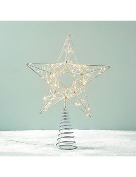 Led Shining Star Tree Topper by West Elm