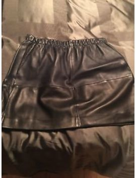 Vince Leather Skirt Size L 10 by Vince