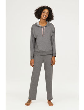 Hooded Pajama Top And Pants by H&M