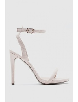 Cerrie Nude Cut Out Back Barely There Heel by In The Style