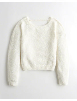 Open Back Fuzzy Sweater by Hollister